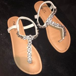 diamond sandals, NEVER WORN!! from: rue21